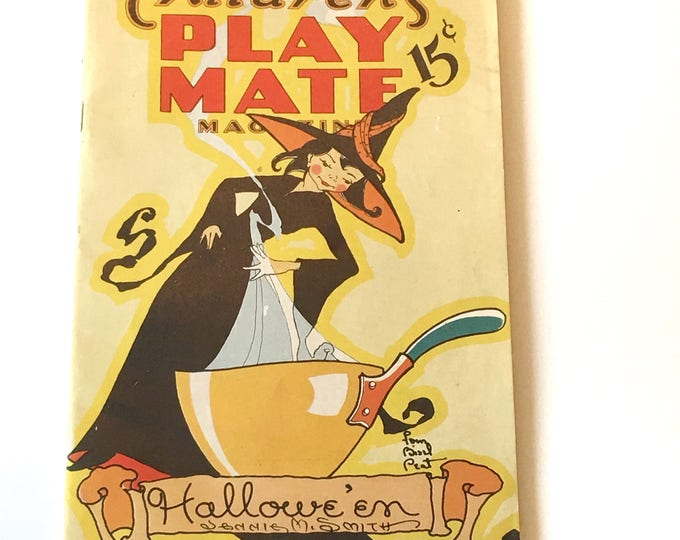 Vintage Halloween Magazine Play Mate October 1940 Crafts Costume Party Ideas Decorations