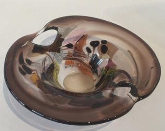 Marlene Keller Handblown Art Glass Bowl