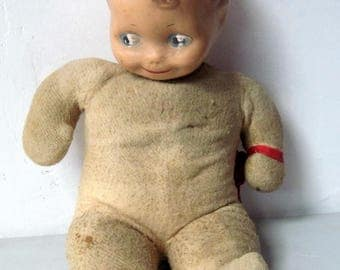 Large stuffed Baby doll with Composition Head