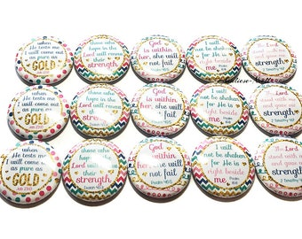 """Christian Magnet, 1"""", Button Magnet, Ministry Magnet, Christian, Scripture Magnet, Christian Woman Magnet, Church Magnet, Sunday School"""