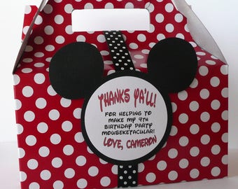 Mickey Mouse Party Favor Box - Set of 12