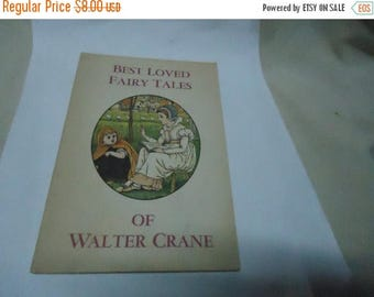 Back Open Sale Vintage 1967 Best Loved Fairy Tales Of Walter Crane Softback Book by The Grolier Society ,  collectable