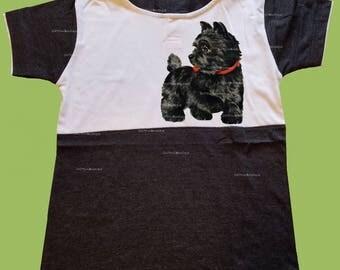 Boys Hooded T-Shirt, Vintage Black shirt, Black puppy Dog, Boys grahic shirt, Birthday outfit, preschool shirt, toddlers,  ChiTownBoutique