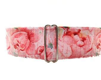 Floral Martingale Collar, Greyhound Collar, Floral Dog Collar, Rose Martingale, Whippet Collar, Girly Martingale Collar