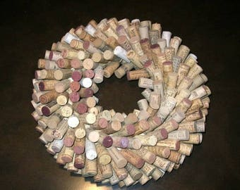 Make A Wine Cork Wreath or Centerpiece: DIY Kit with Supplies and Instructions