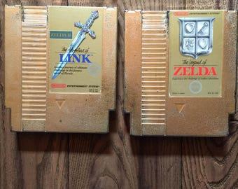 Vintage Nintendo Gold Cartridge Legend of Zelda Zelda II Adventure of Link