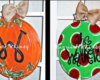 Reversible Door Hanger Pumpkin/Ornament
