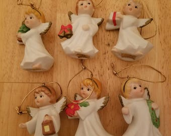 Vintage Set of Angel Ornaments