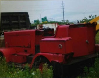Red industrial truck
