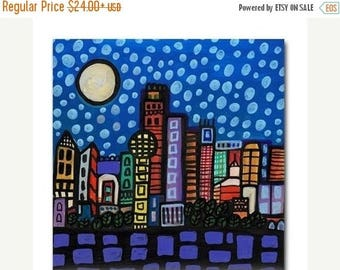 45% Off Today- Dallas skyline Art Tile Ceramic Texas Cityscape City Modern Abstract Print on Coaster