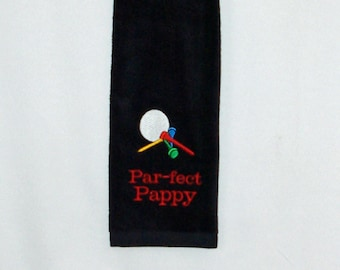 Pappy Golf Towel, Funny Par, Custom Grandparent, Golfing Buddy Gift,  No Shipping Fee, Ships TODAY, SALE