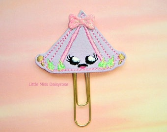 Camping Tent Cutie Planner Clip Paperclip