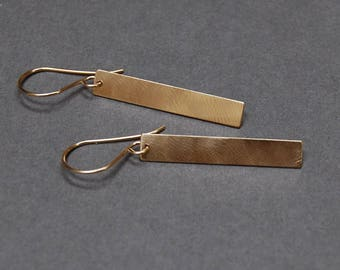 Sale,  50% OFF, Stix Earrings, 14K Gold or Solid Sterling Silver