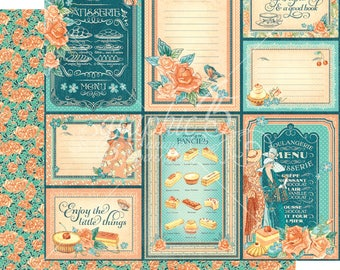 Graphic 45 Cafe Parisian Life Is Sweet, set of 2 sheets 12x12 double sided