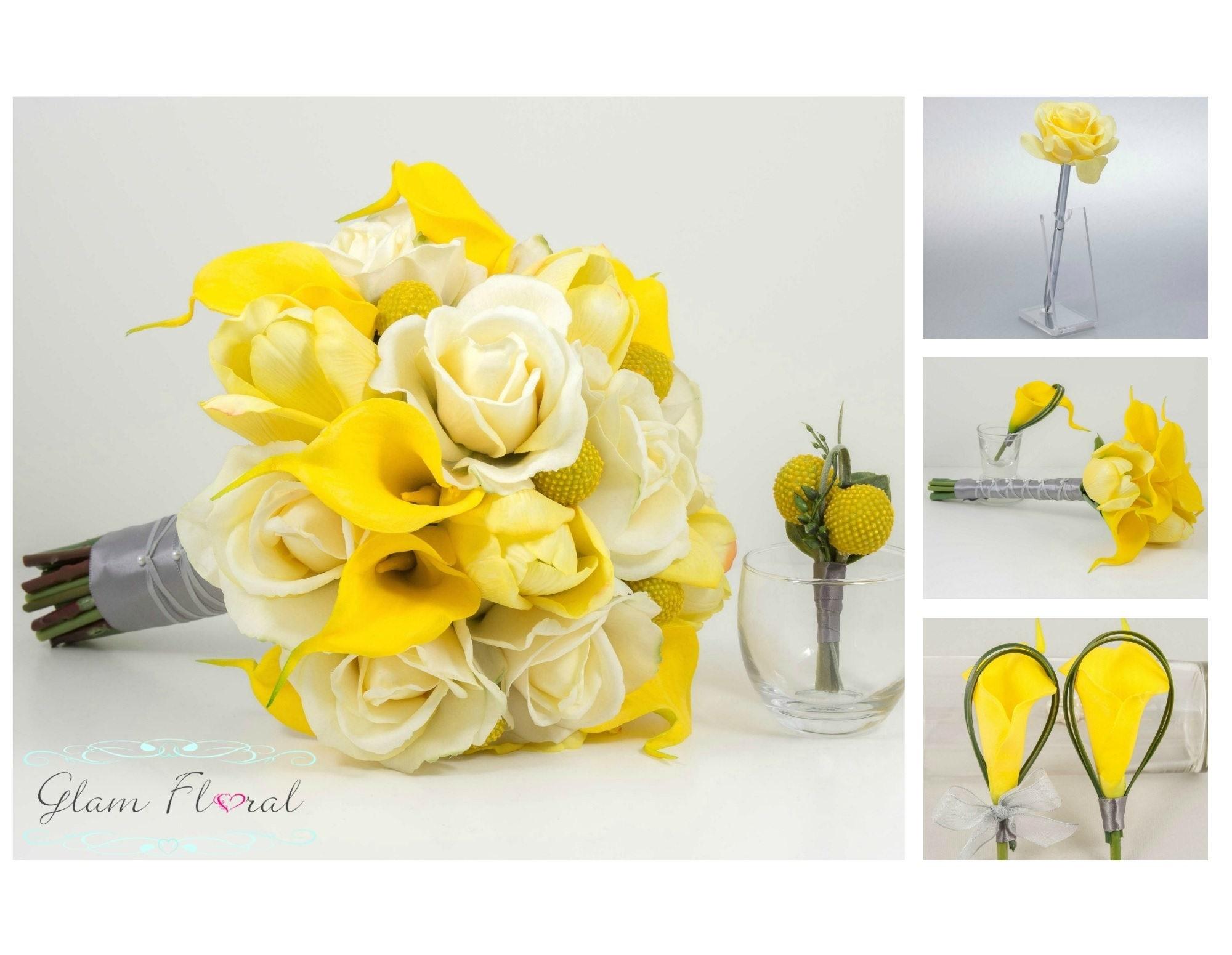Yellow Wedding Flower Package 11 Piece