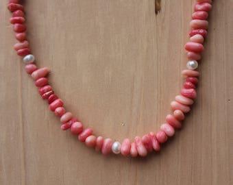 Coral Necklace/Bracelet Set
