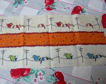 birds on a wire fabric scrap