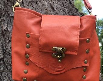 Dark Orange Crossbody Bag