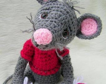 Summer Sale Crochet Pattern Cute Mouse by Teri Crews Wool and Whims Instant Download PDF Format
