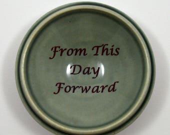 Wedding Ring Dish/ Wedding Gift/ Grey Porcelain Ring Dish/ Ceramic Ring Dish/ Custom Gift