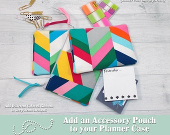 Planner Accessory Pouch • ADD ON • Add an Accessory Pouch to your Planner Case • Planner Accessory • Sticky Notes • Paper Clips