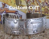 Whirling Logs Way Out West Airstream Custom Ordered Trailer Hitch Cuff    Size 7 1/4  First of Two Equal Payments