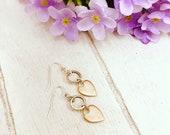 Nell Silvered Copper Heart Earrings / Heart Earrings / Gift Ideas / Gift for Her / Gift For Girls / Earring Trends / Earring Trending