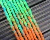 Totally Tropical SE x8 Crochet Synthetic Dreads - green blue orange