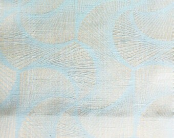 Custom Curtains Valance Roman Shade Shower Curtains in Light Aqua Modern Swirl Pattern Fabric