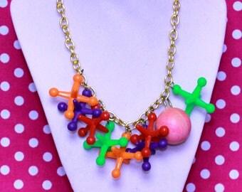 Toy Jacks Necklace