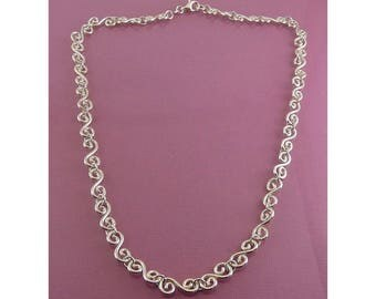 Sterling Silver S Links 18 Inch Necklace
