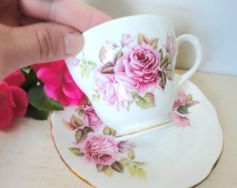 Vintage Duchess Bone China England Flower Tea Cup and Saucer