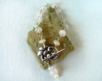 Rose Quartz Link Bracelet