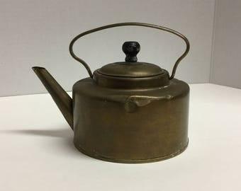 Vintage Brass Teapot Tea Pot Small Brass Teapot