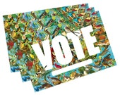 State Birds Political Postcards: Vote postcards, perfect for writing to your reps or get out the vote