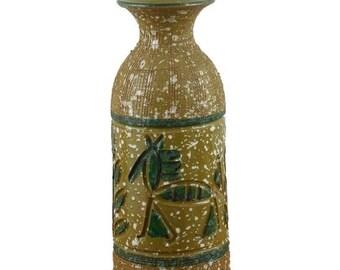 SUMMER SALE Italian Pottery Vase Hieroglyphic Horses and Trees