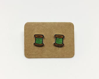 Thread Spool Earrings