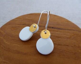 Snowman Hook Earrings