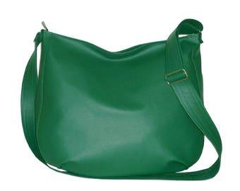 5561, dark green vegan hobo bag, dark green vegan crossbody bag, green hobo bag crossbody, green crossbody bag, green vegan bag, vegan sack