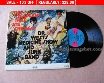 August Vinyl Blow Out 10% OFF Already Low Prices Rare Psych era Lp  Vinyl  Record The Eggplate That Ate Chicago Dr. Wests Medicine Show and
