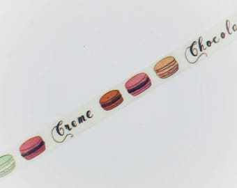 Cute macarons washi tape chocolate for planner scrapbook journal craft swap organize stationery - Lillibon