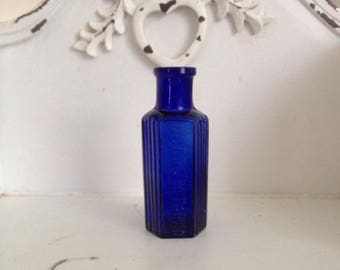 Antique Cobalt Blue Poison Bottle.