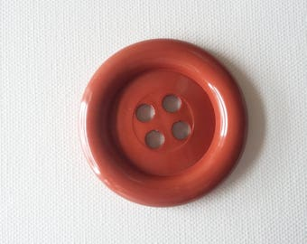 Sale - Extra Large Button - Rust Brown was 3.00 now 1.50