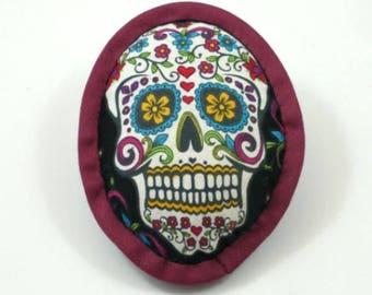 Catnip Toy Skull, Dia de los Muertos, Calavera, Day of the Dead, Halloween Cat Toys, Catnip Skull, Cat Skull, Skull Pillow, SUGAR SKULL