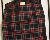 Vintage Red Plaid Garment Bags - Two Cloth Garment Bags - Vintage Red Plaid Luggage