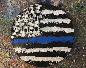 Thin Blue Line - Policeman's Flag.
