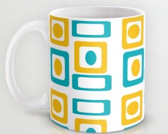 Modern Mug,  Retro Mug, Retro Kitchen, Groovy Mug, Mid Century Modern Mug, Cool Mug, Retro Ceramic Mug, Retro Coffee Mug, Mid Century Mug