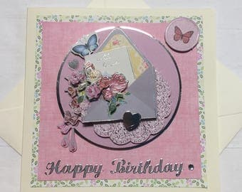 Birthday card - Decoupage birthday card