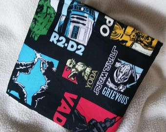 Star Wars Sale! 4 Reusable Snack/Sandwich Bags/Price of 3! Eco Friendly Bag, Kid's Snack Bags, Eco Lunch Bag, Grab Bag Gifts, Party Favors
