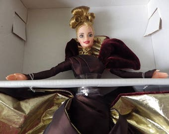 Portrait in Taffeta Barbie Doll, First in a Series Barbie Couture. NRFB, 1996